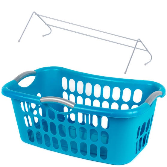 Beldray Hip Hugger Laundry Basket with Pack of 3 Radiator Clothes Airers, 3 Metre Drying Space