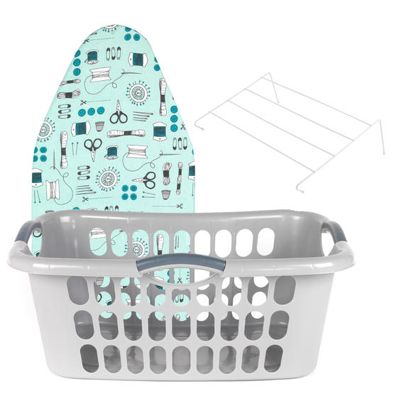 Beldray Laundry Set with Hip Hugger Basket, Radiator Airer and Table Top Ironing Board Thumbnail 1
