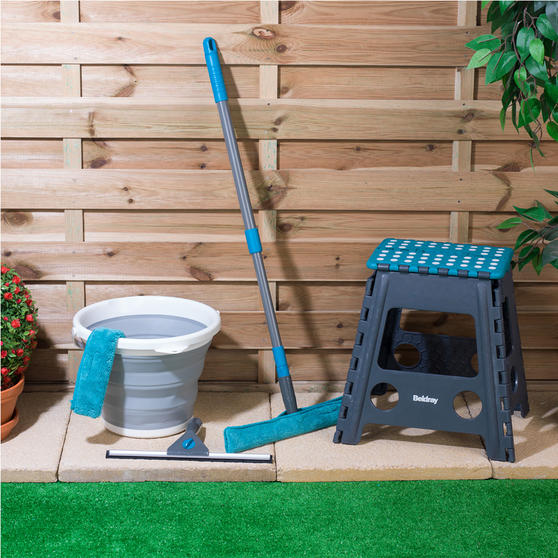 Beldray Window Cleaning Set with Stool and Collapsible Bucket Thumbnail 2