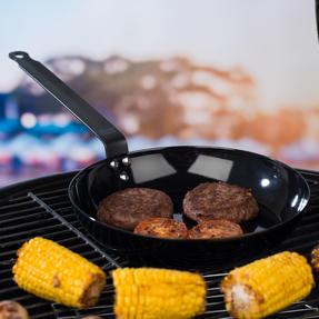 Jamie Oliver COMBO-4589 Get Inspired Heat Resistant Carbon Steel BBQ Frying Pan, 24 cm, Black, Set of 3 Thumbnail 2