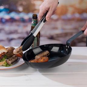 Jamie Oliver COMBO-4589 Get Inspired Heat Resistant Carbon Steel BBQ Frying Pan, 24 cm, Black, Set of 3 Thumbnail 3