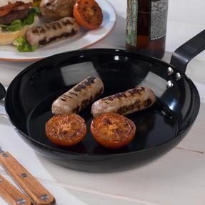 Jamie Oliver COMBO-4589 Get Inspired Heat Resistant Carbon Steel BBQ Frying Pan, 24 cm, Black, Set of 3 Thumbnail 7