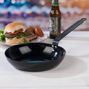Jamie Oliver COMBO-4589 Get Inspired Heat Resistant Carbon Steel BBQ Frying Pan, 24 cm, Black, Set of 3 Thumbnail 8
