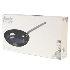 Jamie Oliver COMBO-4589 Get Inspired Heat Resistant Carbon Steel BBQ Frying Pan, 24 cm, Black, Set of 3 Thumbnail 9