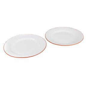 Jamie Oliver COMBO-4556 Get Inspired Set of 4 Terracotta Dinner Plates, 28 cm, White, Dishwasher Safe Thumbnail 4