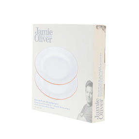 Jamie Oliver COMBO-4556 Get Inspired Set of 4 Terracotta Dinner Plates, 28 cm, White, Dishwasher Safe Thumbnail 9