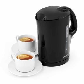 Progress EK3437BLKP 1.7 L Plastic Kettle with Soft Grip Handle, 2200 W, Black Thumbnail 1