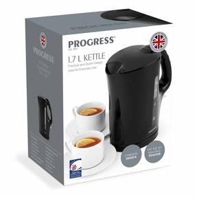 Progress EK3437BLKP 1.7 L Plastic Kettle with Soft Grip Handle, 2200 W, Black Thumbnail 12
