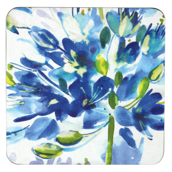 Inspire BCH281579 Set of 4 Blue Medley Coasters
