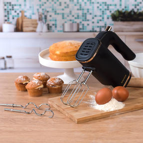 Salter Five-Speed Hand Mixer with Beater and Kneading Hook Attachments, 250 W, Rose Gold Thumbnail 3