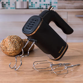 Salter Five-Speed Hand Mixer with Beater and Kneading Hook Attachments, 250 W, Rose Gold Thumbnail 5