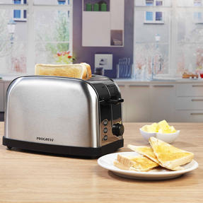 Progress EK2982SSP Classica 2-Slice Toaster with Variable Browning, 850 W, Stainless Steel/Black Thumbnail 3