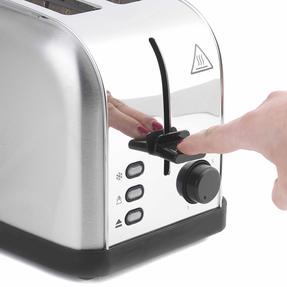 Progress EK2982SSP Classica 2-Slice Toaster with Variable Browning, 850 W, Stainless Steel/Black Thumbnail 6