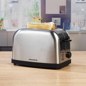 Progress EK2982SSP Classica 2-Slice Toaster with Variable Browning, 850 W, Stainless Steel/Black Thumbnail 8