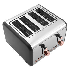 Salter Rose Gold 4-Slice Toaster, 1500 W, Rose Gold Thumbnail 2