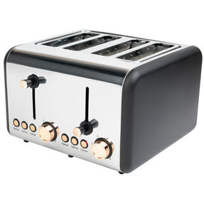 Salter Rose Gold 4-Slice Toaster, 1500 W, Rose Gold Thumbnail 7