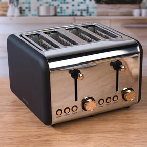 Salter Rose Gold 4-Slice Toaster, 1500 W, Rose Gold Thumbnail 8
