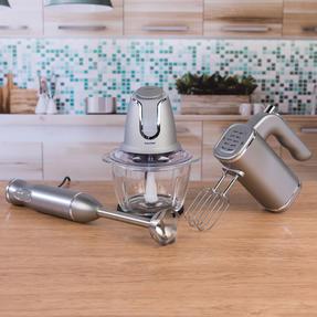 Salter COMBO-3841 Kitchen Gadget Set Hand Blender, Mixer and Glass Chopper, Titanium Thumbnail 3