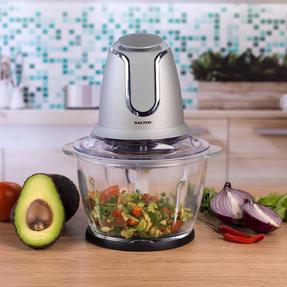 Salter COMBO-3841 Kitchen Gadget Set Hand Blender, Mixer and Glass Chopper, Titanium Thumbnail 8