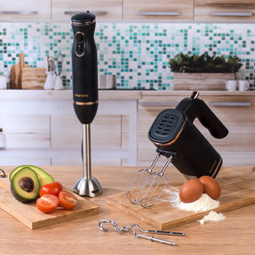 Salter Two-Speed Immersion Hand Blender and Five-Speed Hand Mixer, 400 W / 250 W, Rose Gold Edition Thumbnail 2