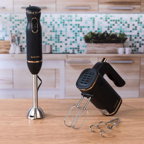 Salter Two-Speed Immersion Hand Blender and Five-Speed Hand Mixer, 400 W / 250 W, Rose Gold Edition Thumbnail 3