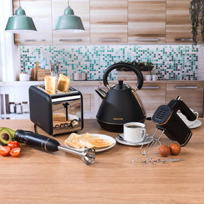 Salter COMBO-3951 Hand Blender, Mixer, Pyramid Kettle and 2 Slice Toaster Set, Rose Gold Edition Thumbnail 2