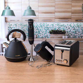 Salter COMBO-3951 Hand Blender, Mixer, Pyramid Kettle and 2 Slice Toaster Set, Rose Gold Edition Thumbnail 3