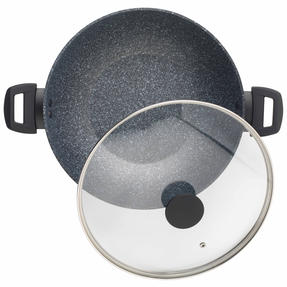 Salter Megastone Complete Non-Stick Cookware Pan Collection with 3 Piece Utensil Set Thumbnail 6