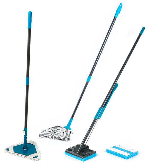 Beldray Sponge Mop, Microfibre Mop and Flexible Triangular Mop Set