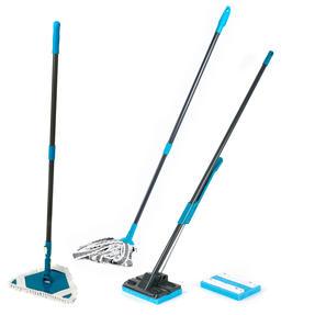 Beldray COMBO-4383 Sponge Mop, Microfibre Mop and Flexible Triangular Mop Set