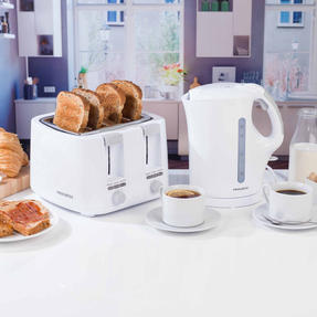 Progress COMBO-3654 1.7 Litre Immersed Kettle with Four Slice Toaster, White/Grey Thumbnail 2