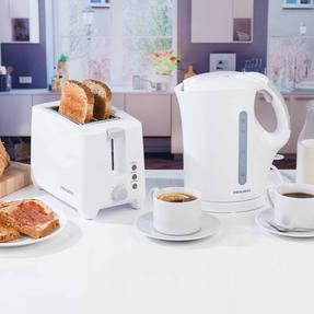 Progress COMBO-3655 1.7 Litre Immersed Kettle with Two Slice Toaster, White/Grey Thumbnail 2