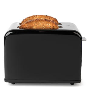 Salter Riga 2-Slice Toaster with Variable Browning, 815 W, Black/Stainless Steel Thumbnail 2