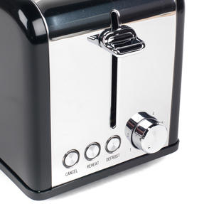 Salter Riga 2-Slice Toaster with Variable Browning, 815 W, Black/Stainless Steel Thumbnail 3