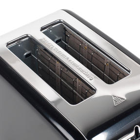 Salter Riga 2-Slice Toaster with Variable Browning, 815 W, Black/Stainless Steel Thumbnail 4