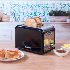Salter EK3399BLACK Riga 2-Slice Toaster with Variable Browning, 815 W, Black/Stainless Steel Thumbnail 6