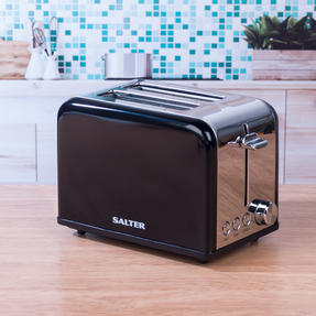Salter Riga 2-Slice Toaster with Variable Browning, 815 W, Black/Stainless Steel Thumbnail 7