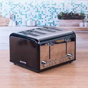 Salter EK3408BLACK 4-Slice Riga Toaster with Variable Browning Control, 1630 W, Black/Stainless Steel Thumbnail 3