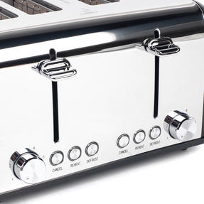 Salter EK3408BLACK 4-Slice Riga Toaster with Variable Browning Control, 1630 W, Black/Stainless Steel Thumbnail 4