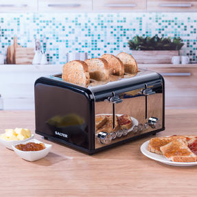Salter EK3408BLACK 4-Slice Riga Toaster with Variable Browning Control, 1630 W, Black/Stainless Steel Thumbnail 5