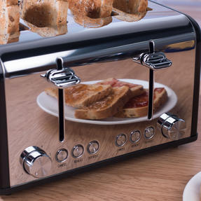 Salter EK3408BLACK 4-Slice Riga Toaster with Variable Browning Control, 1630 W, Black/Stainless Steel Thumbnail 8