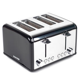 Salter EK3408BLACK 4-Slice Riga Toaster with Variable Browning Control, 1630 W, Black/Stainless Steel Thumbnail 9