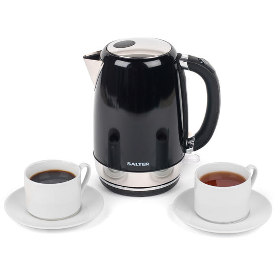 Salter EK3491BLACK Riga Kettle with 3 kW power, 1.7 L, Black