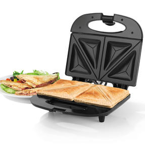 Progress 2-Slice Non-Stick Sandwich Toaster, 800 W, Black
