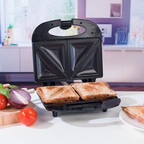 Progress EK2786P 2-Slice Non-Stick Sandwich Toaster, 800 W, Black Thumbnail 4