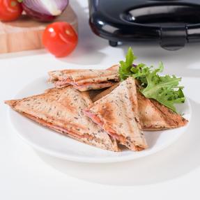 Progress EK2786P 2-Slice Non-Stick Sandwich Toaster, 800 W, Black Thumbnail 7