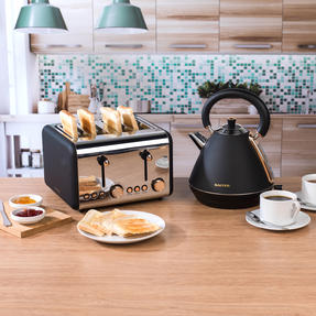 Salter COMBO-3953 Pyramid Kettle and Four- Slice Toaster Set, Rose Gold Edition Thumbnail 2