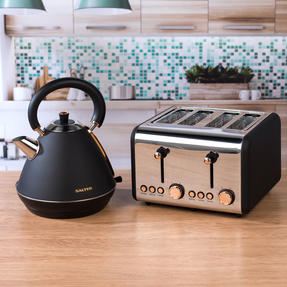 Salter COMBO-3953 Pyramid Kettle and Four- Slice Toaster Set, Rose Gold Edition Thumbnail 3