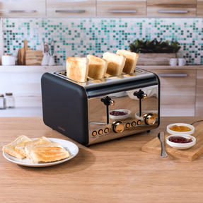Salter COMBO-3953 Pyramid Kettle and Four- Slice Toaster Set, Rose Gold Edition Thumbnail 5