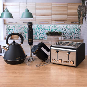 Salter COMBO-3952 Hand Blender, Mixer, Pyramid Kettle and 4 Slice Toaster Set, Rose Gold Edition Thumbnail 3